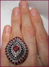 Genuine Mozambique Garnet Thai Black Spinel Ring STERLING SILVER 925 RING sz 6 7