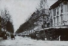 Avenue de la Gare, Nice, France, Magic Lantern Glass Slide