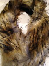 Vintage Faux Beige Fox Fur Stole Wrap Scarf