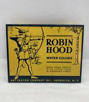 Rare Vintage Robin Hood Water Colors  Art Crayon Co. Tin box 1950's Collectible