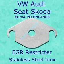EGR Valve Restricter plate VW AUDI SEAT SKODA Euro4 PD engines Block Stainless/S