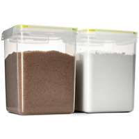 Komax Biokips Flour and Sugar Storage Containers | 2 Extra Large Sugar and Flour