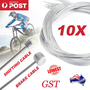 10pcs Road Bike MTB Gear Bicycle Brake Line Shifter Cable Core Inner Wire AU