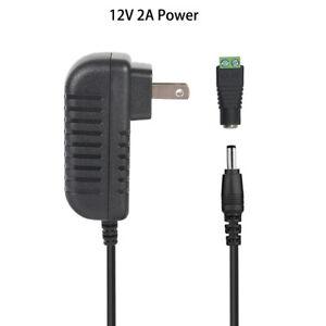 12V 2A 24W Power Supply AC 110-240V To DC Adapter Plug For 3528 5050 LED Strip