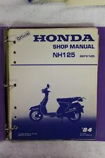 Honda OEM Shop Service Repair Manual 1984 NH125 Aero125 P/N 61KG800 1983 Print