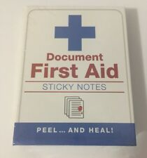 First Aid Sticky Notes Booklet Bandage Post It Stocking Stuffers Nurse Doctor