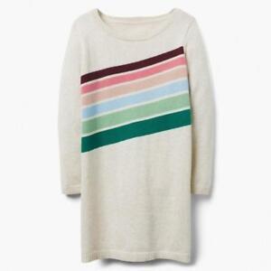 NWT Gymboree Cream Striped Sweater Dress Girls 3,4,5/6,7/8,10/12,14