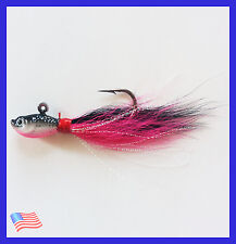 NEW 1 Oz. BUCKTAIL JIG SALTWATER Offshore Fishing for Striped Bass Flounder