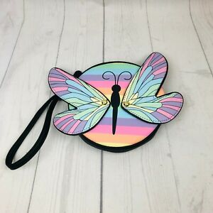 Luv Betsey Johnson Rainbow Butterfly Wristlet