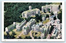 Postcard Canada Montreal Royal Victoria Hospital Vintage Aerial View D7