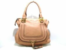 Auth Chloe Marcie Pink Leather Shoulder Bag