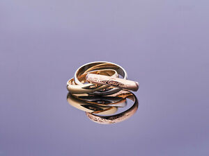 eleganter Cartier - les must - Trinity Ring - weiß-gelb-rose Gold 750 - RG50