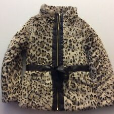 New 100 BCX Girl Faux Fur Coat Girls Sz Medium Fits 10-12