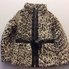 New 100 BCX Girl Faux Fur Coat Girls Sz Medium Fits 10-12