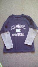 Boys Carolina Tar Heels blue long sleeved shirt size 10/12