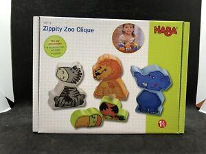 Haba Wooden Toys Zippity Zoo Clique New Zebra Elephant Toucan Lion Animals
