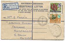 Southern Rhodesia 1965 Cover 2s 3d Registewred SALISBURY Apr 6