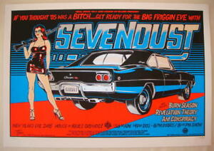 2005 Sevendust - NYE Orlando Silkscreen Concert Poster S/N by Stainboy