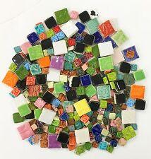 Mosaic Square Tiles - 1 lb High Fired Ceramic Tiles - Mixed Bag
