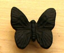 Set of 6   Replica Butterfly  Knob Pull  Rustic Brown Unique