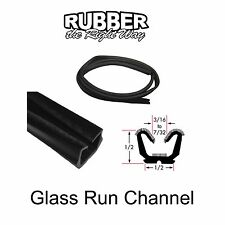 "Universal Window Run Channel - Flexible - 1/2"" Tall 1/2"" Wide at Base"