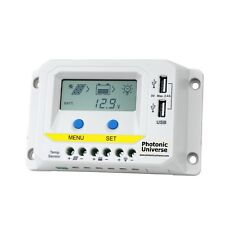 10A solar panel charge controller / regulator with LCD display and dual USB port