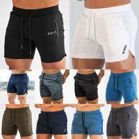 NEW Men Sport Training Bodybuilding Summer Shorts Workout Fitness GYM Short Pant
