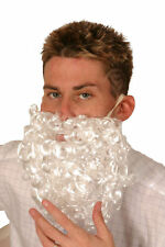 WHITE CURLY SANTA BEARD