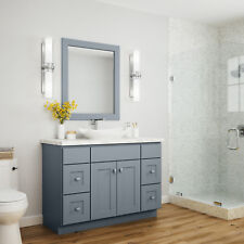 "JSI Dover Castle Dark Gray Bathroom 24"" Vanity Cabinet Base w/2 Doors"