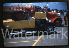 1959  kodachrome Photo slide   Antique car Old fire truck   Car show