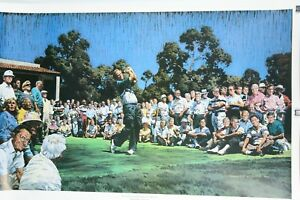 """""""On The Tee With Jack Nicklaus"""" Numbered Lithograph by Brad Faegre 23 1/2"""" x 35"""""""