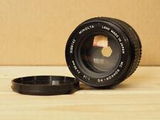 Minolta MC Rokkor 50mm f/1.4 PG Lens MD Mount with Front Lens Cap