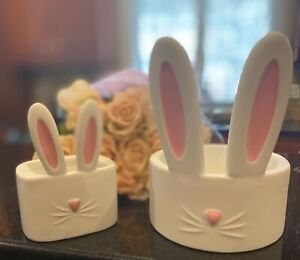 2021 Bath & Body Works Easter Bunny Ears Candle Holder & Matching Soap Holder