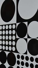 2 Sheets of Quality Thick Glossy Wrapping Paper Black Circle