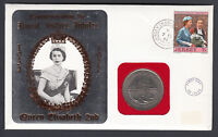 1977 QEII QE2 Royal Silver Jubilee Jersey coin cover FDI FDC First Day Cover