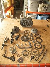 1981 Honda C70 Crankcases Clutch Cylinder Kick Pedal Camshaft & Chains Parts Lot