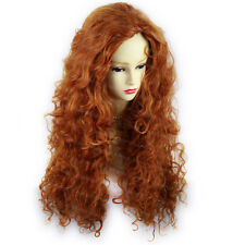 Wiwigs Beautiful Long Wild Untamed Copper Red Curly Ladies Wig