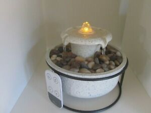 Homedics Euphoria Relaxation Tabletop Water Fountain w/ Sound & Remote & Box