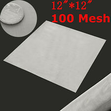 """12"""" 100 Mesh/150 Micron 304 Stainless Steel Filter Filtration Woven Wire Screen"""