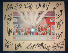 More details for blackpool fc 21/22 hand signed 10x8 mount display signed by 15 players