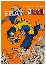 POWER PIN-UP Print - BEAST A X-Men Vintage Artwork Marvel UK Distribution