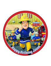 Fire Man Sam Cake Image Personalised Birthday Decoration Party Topper