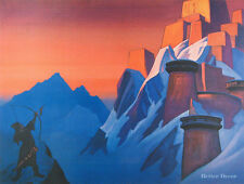 "28"" PRINT Message from Shambhala by N.Roerich MUSEUM ART - MOUNTAIN LANDSCAPE"