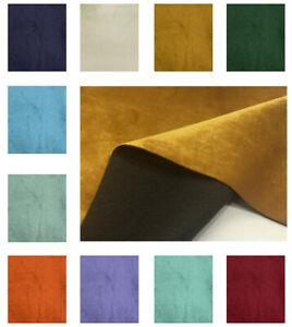 Soft Plush Velvet Fabric Dressmaking Upholstery Curtain Blind Velour Material