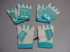 NWOT Women's Fingerless Sport Gloves Size Large 3 Pair White/Teal #194G