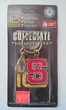 North Carolina State Wolfpack Metal Keyring w/Belt Hoop Logo NCAA ACC NIP Rivers
