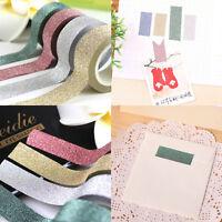 10M Fabric Glitter Washi Tape Stick Self Adhesive Decorative Craft DIY Paper New