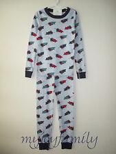 HANNA ANDERSSON Organic Long Johns Pajamas Make Way Snowplow Tractor 140 10 NWT