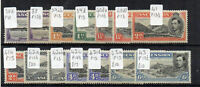 Ascension 1938-53 values to 6d + variations MLH/MH