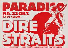 Dire Straits Paradiso Club, Amsterdam (1978)  - Music Concert Poster Art